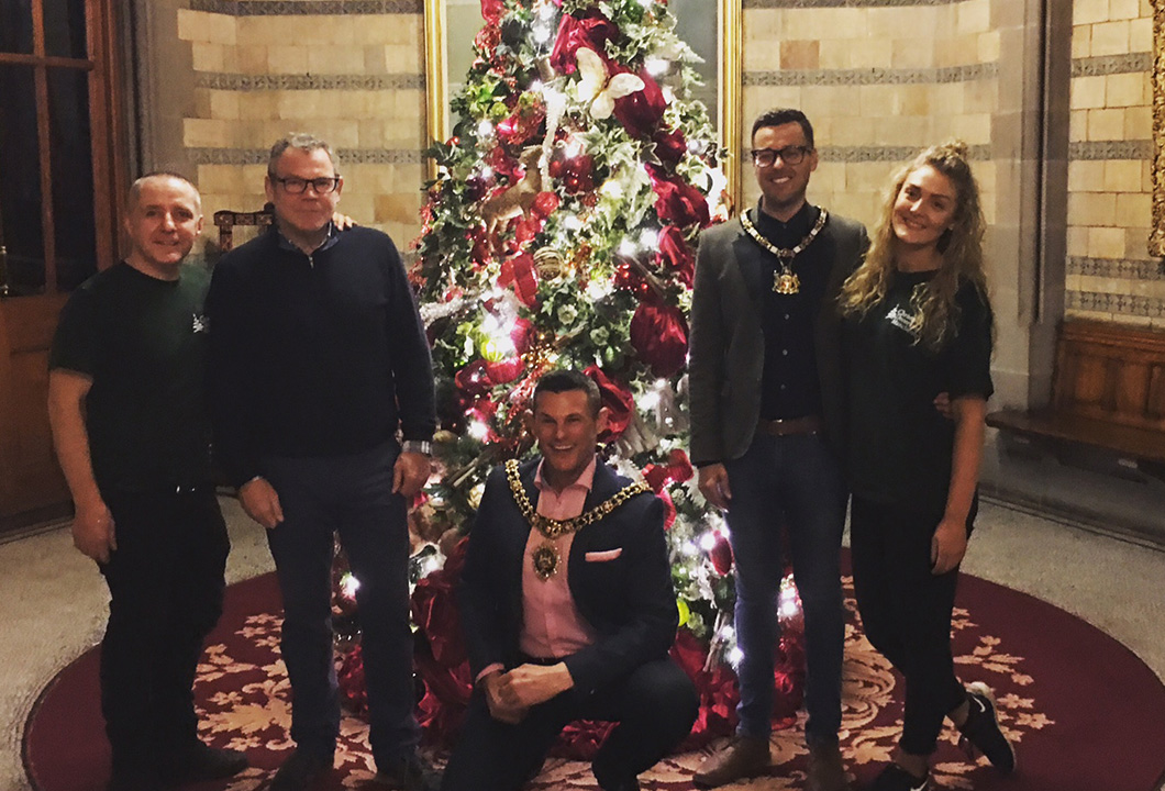 Christmas Decorations with Mayor